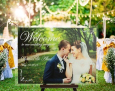 Wedding welcome sign board