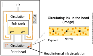 Circulating ink in the head (Image)