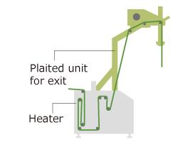Exit in plaited unit (OPT-J0489)