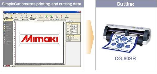 SimpleCut creates printing and cutting data.