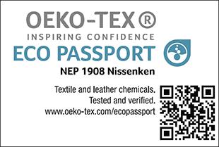 [ECO PASSPORT] Certification label No. NEP 1908