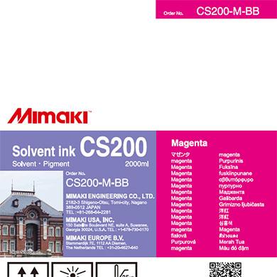 CS200-M-BB CS200 Solvent ink bottle Magenta