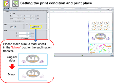 Setting the print condition and print place
