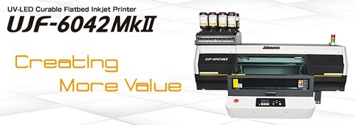 UJF-6042MkII | Compact Flatbed Inkjet Printer