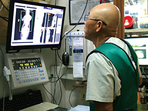 Facilities for radiography, electrocardiography, blood pressure measurement, skin camera inspection, etc.